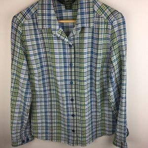 Woolrich Crinkle Lightweight Button Up Top Shirt